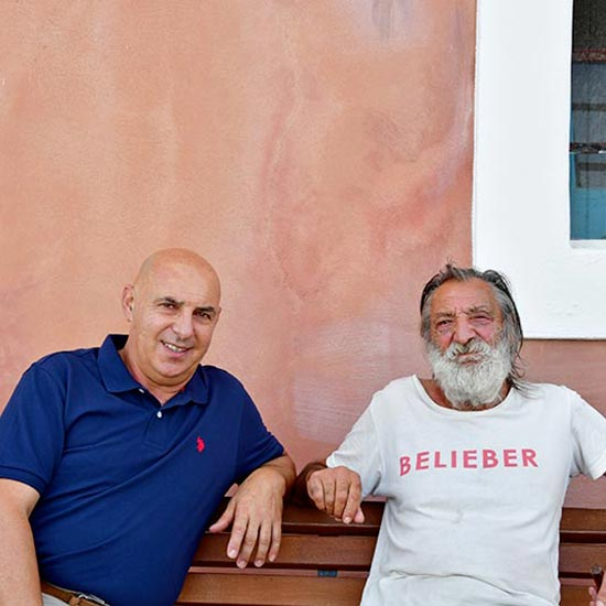 Enzo Anastasi con Gianni Sciacchitano